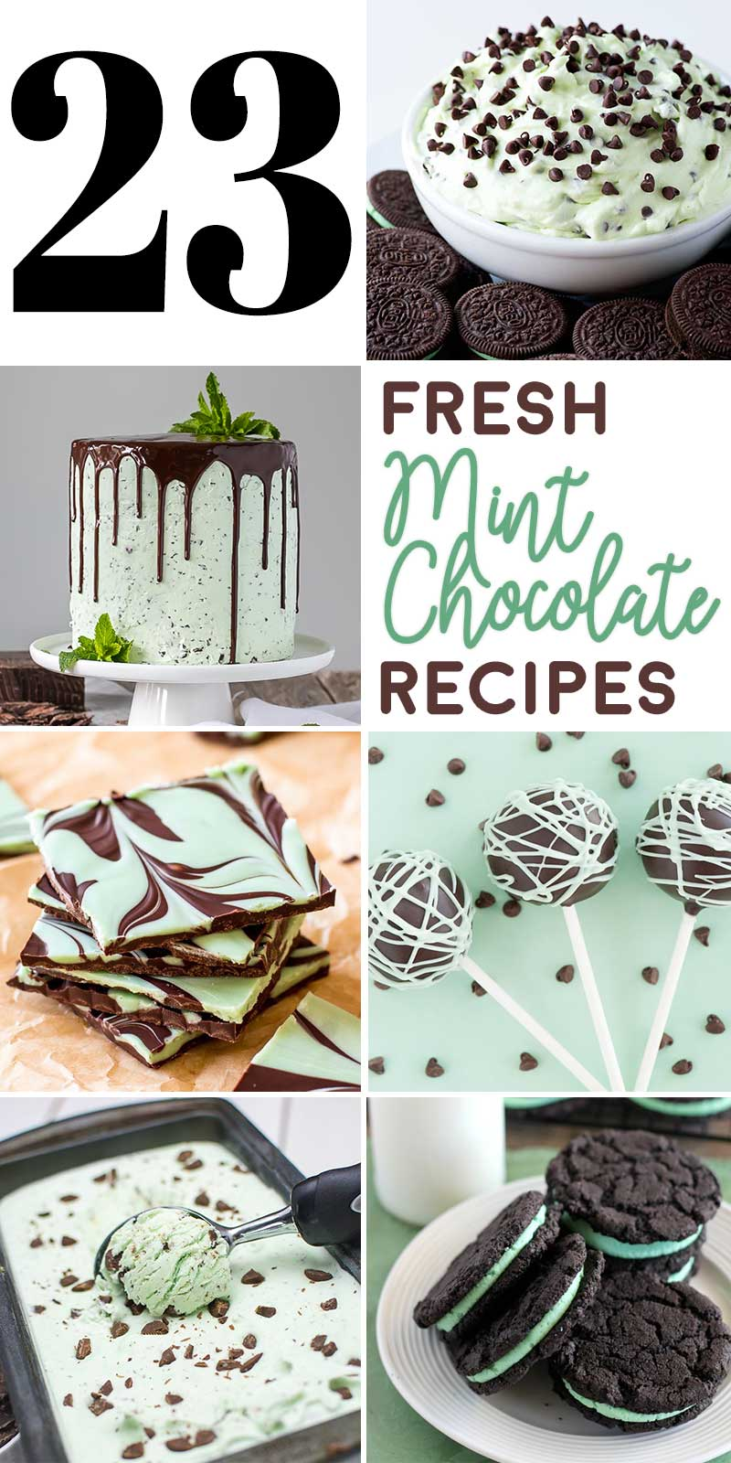 23 Fresh Mint Chocolate Recipes! Whether it's the peak of summer or the festive winter, this collection of mint chocolate recipes has everything you'd want for a fresh treat craving! | HomemadeHooplah.com