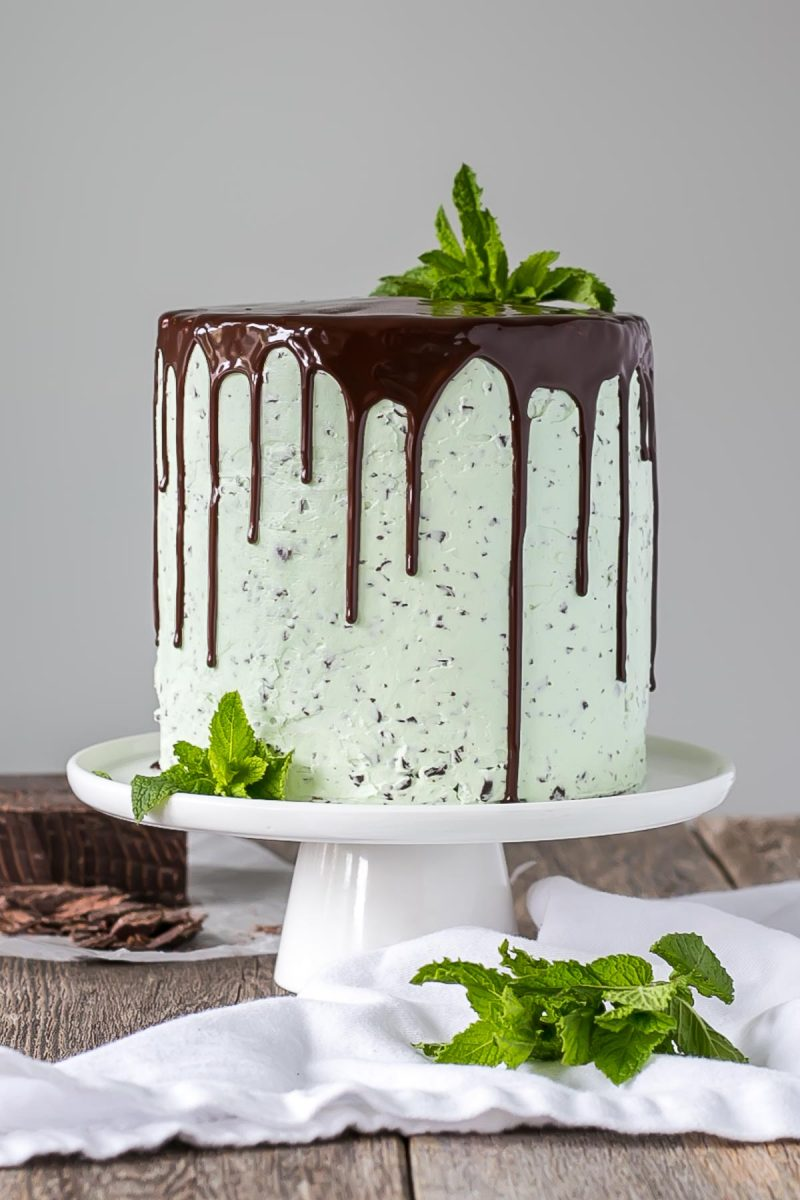 Mint Chocolate Chip Cookie Cake Recipe