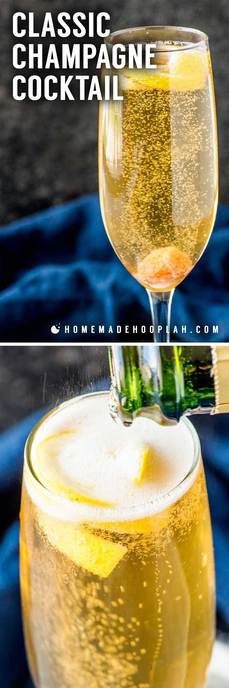 What's in a champagne cocktail.