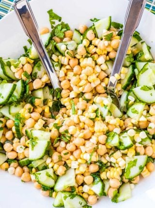 Summer Corn and Chickpea Salad