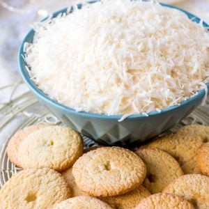 Snowball Cake Dip! Whether you love classic snowball cake or the Sno Ball treats from Hostess, this unique cake dip will be perfect for any cake, chocolate, and coconut lover! | HomemadeHooplah.com