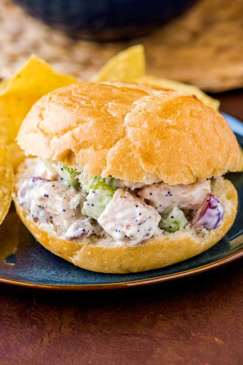 The best chicken salad recipe for a chicken salad sandwich.
