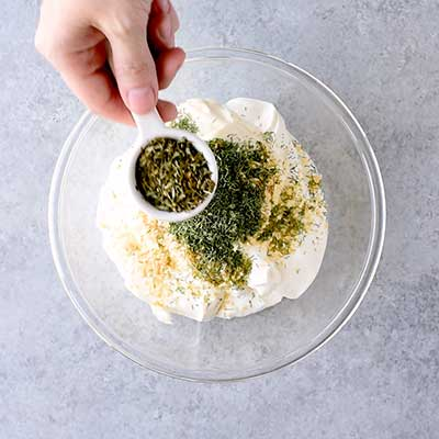 Dill Dip Step 1 - Add dried parsley.