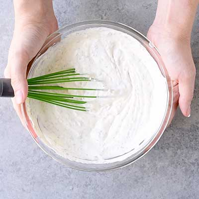 Dill Dip Step 2 - Mix well.