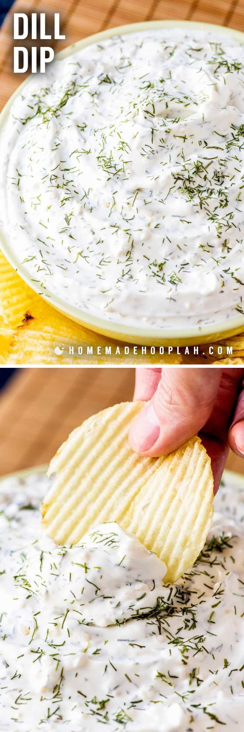 Dill dip recipe for dipping veggies.