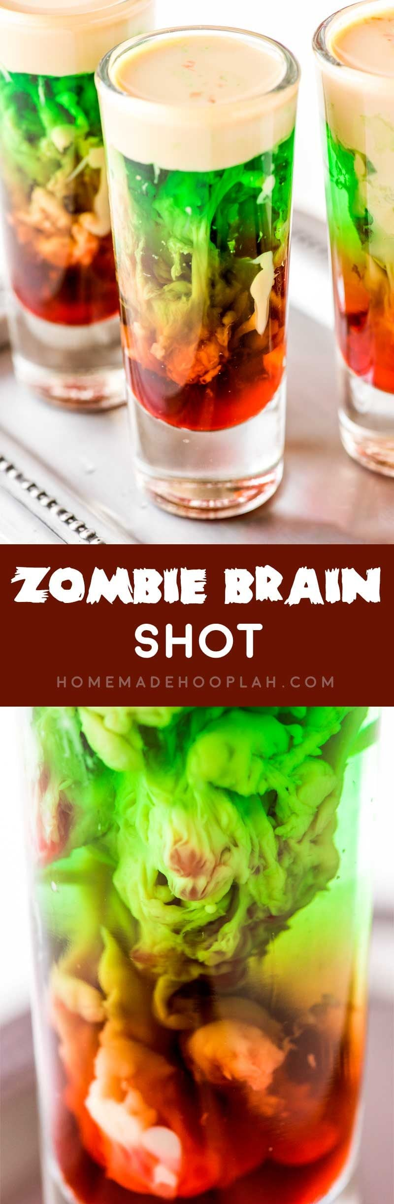Full tutorial on how to make a zombie brain hemorrhage shot.