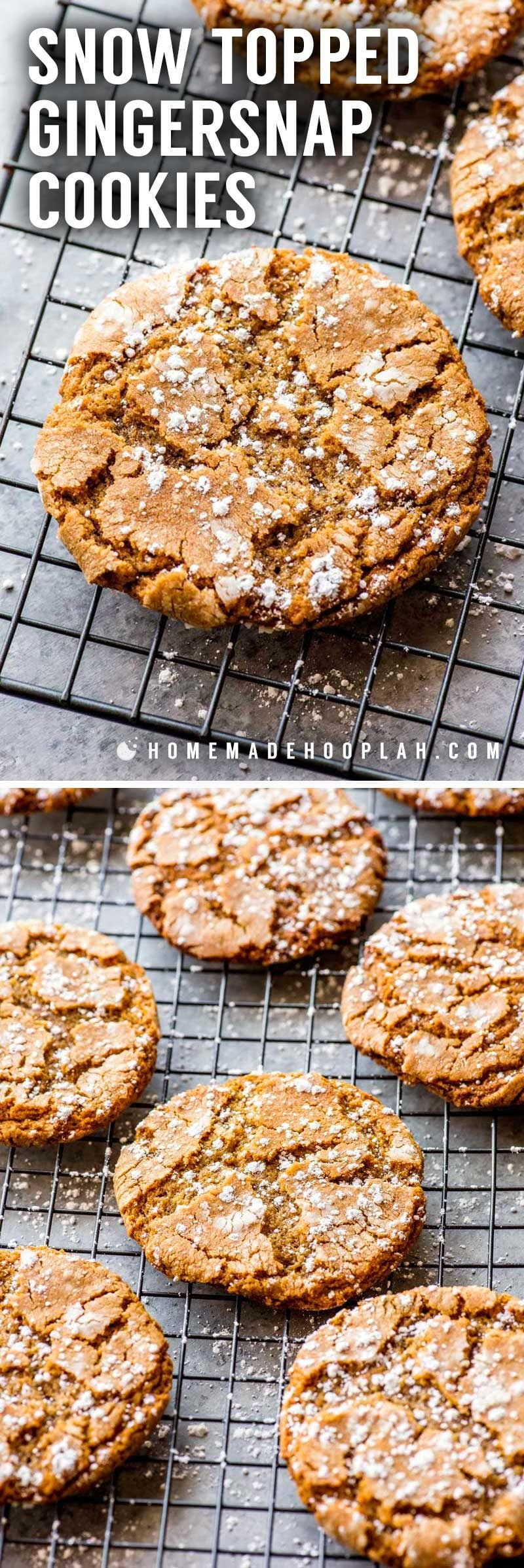 Soft and chewy gingersnap cookies.