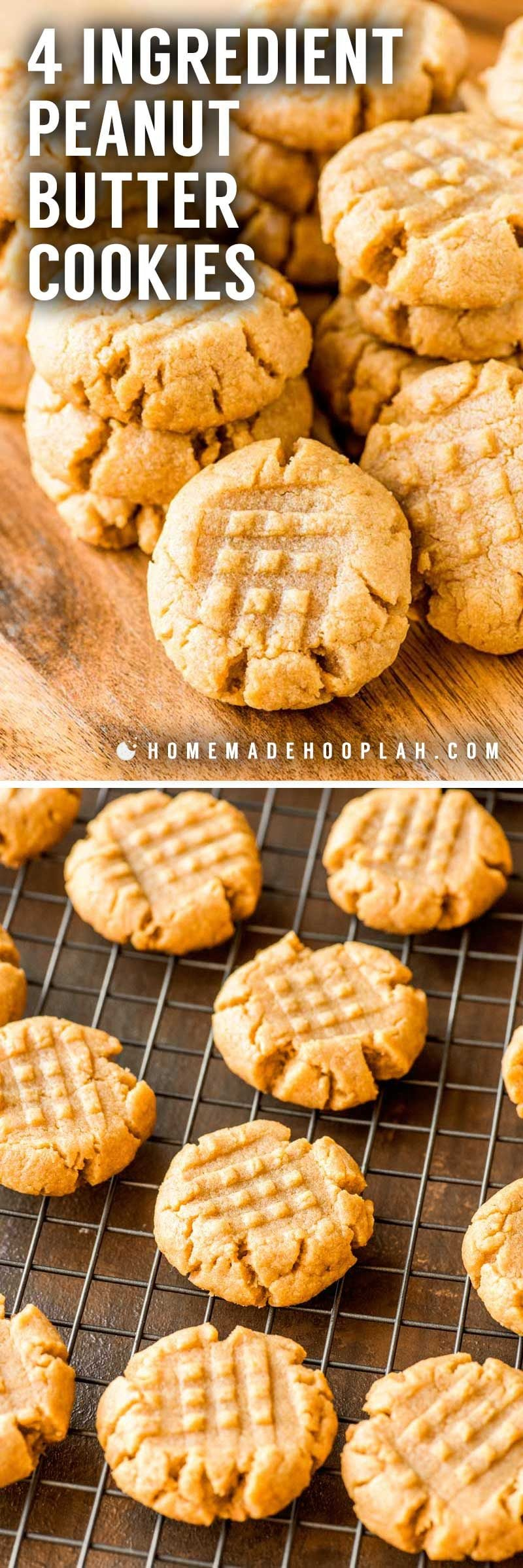 How to make peanut butter cookies with 4 ingredients