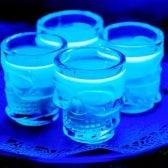 Easy jello shot recipe that glows under a black light