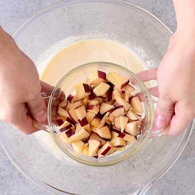 Waldorf Salad Step 2 - Add chopped apples.