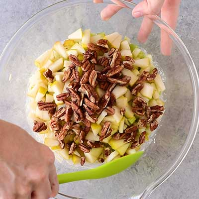 Waldorf Salad Step 2 - Mix ingredients.