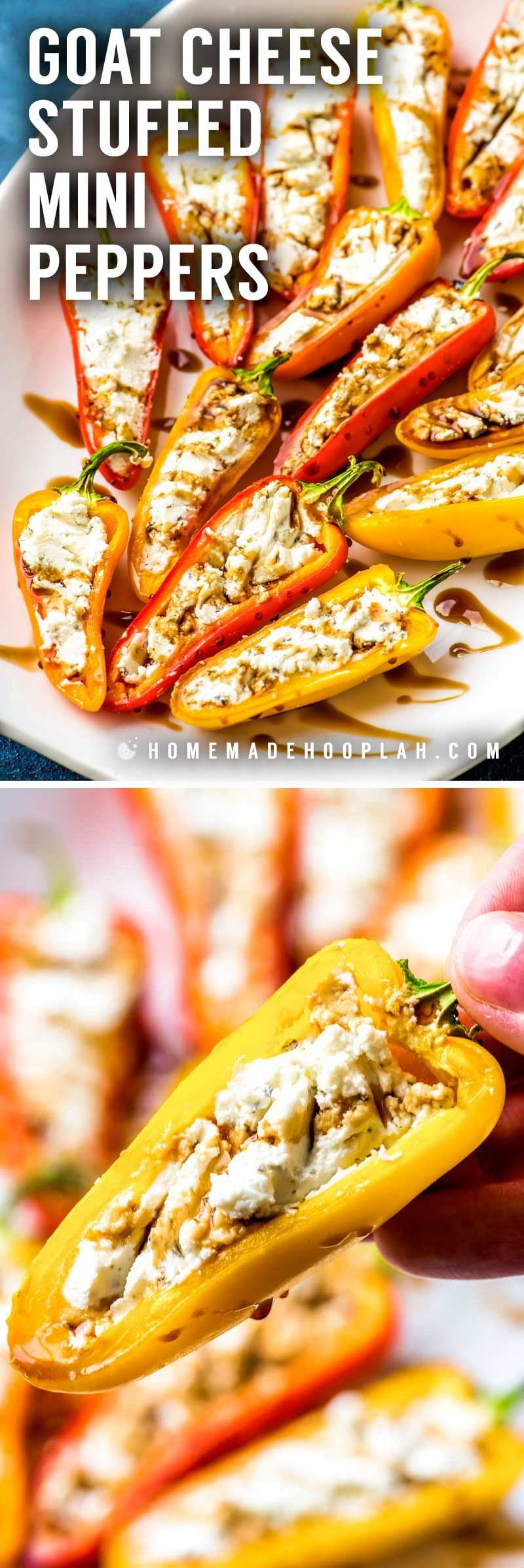 Easy stuffed mini peppers.