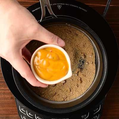 Tangy Pineapple Glazed Ham Step 4 - Add honey mustard.