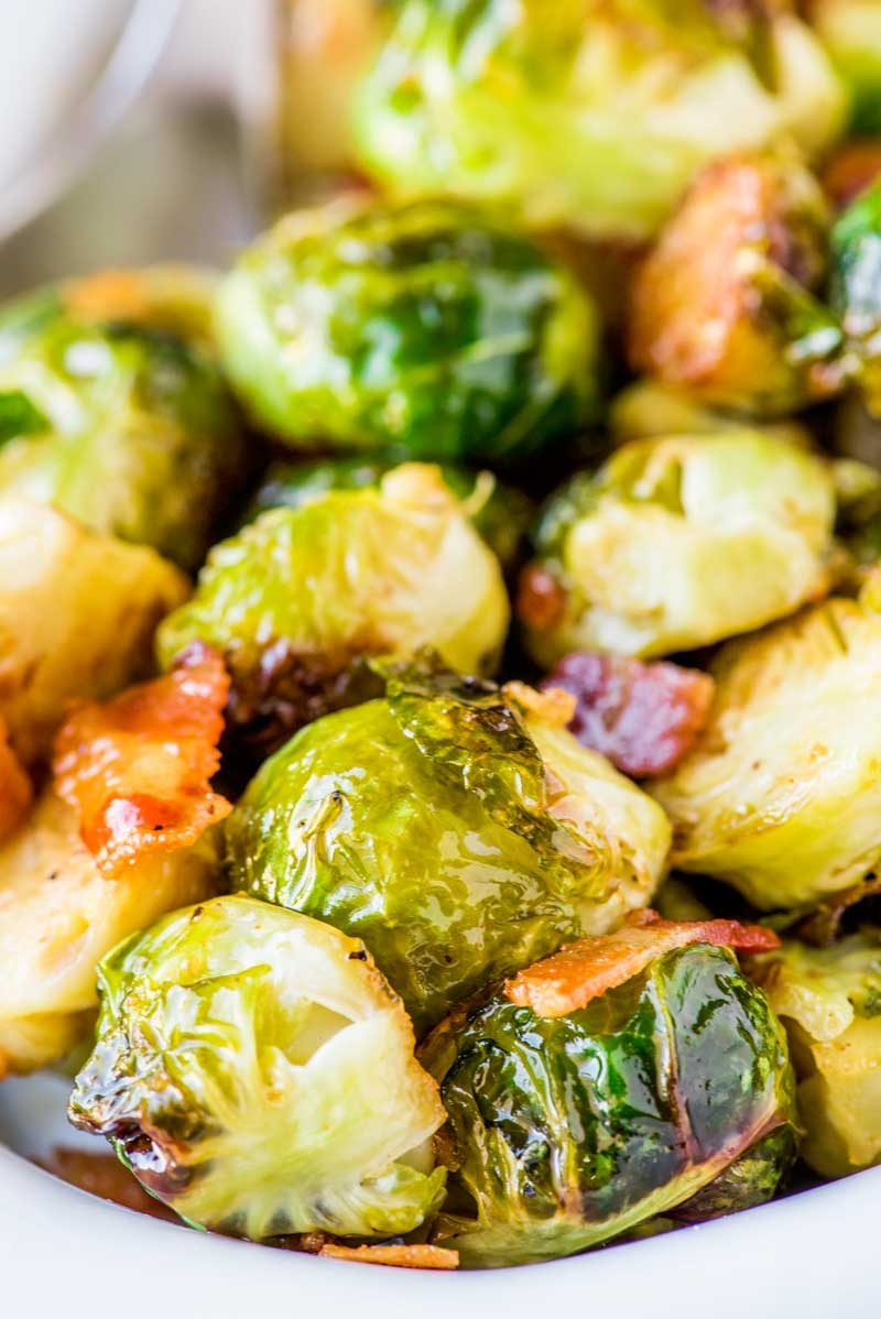 how to make maple bacon brussel sprouts