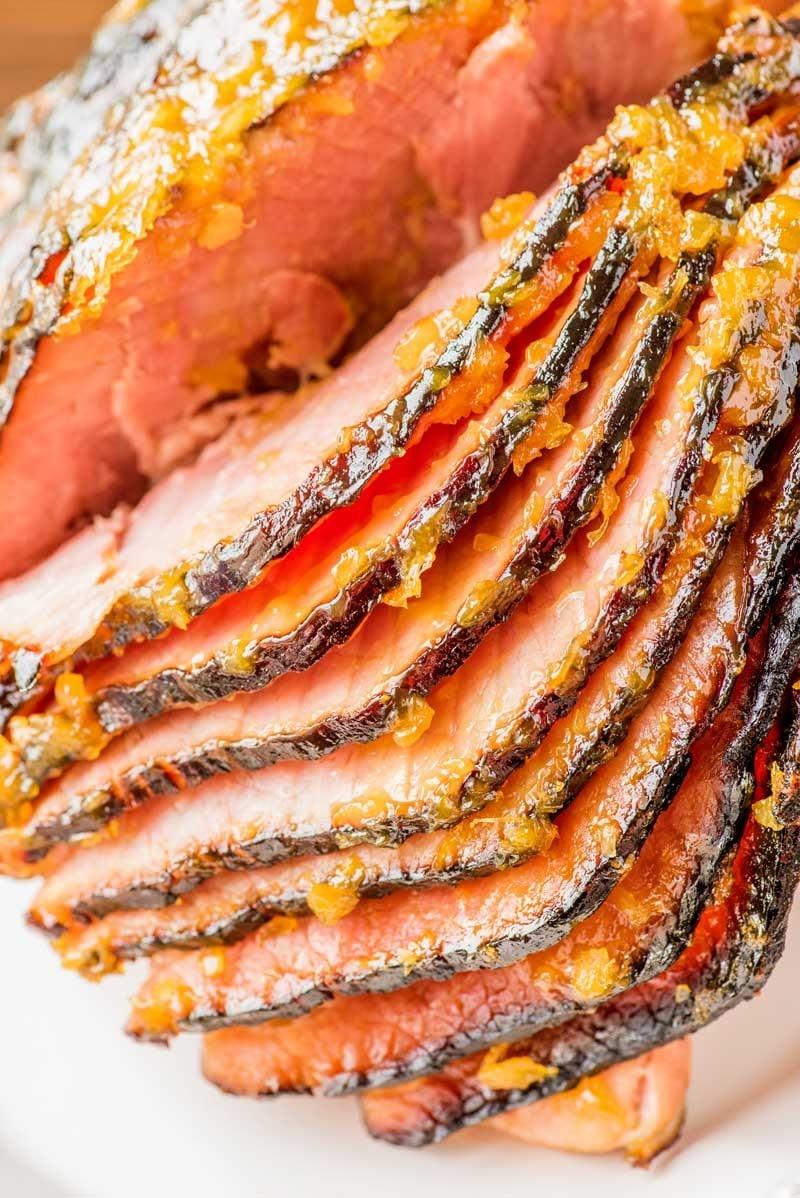 Tangy Pineapple Glazed Ham - Homemade