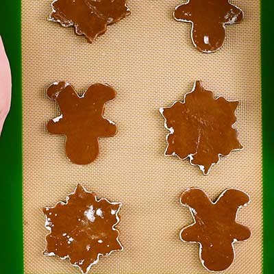 Gingerbread Cookies Step 6 - Place cookies on prepared baking sheet.