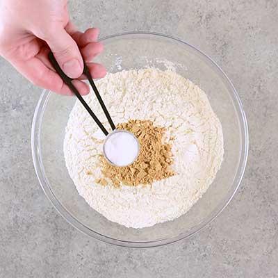 Molasses Crinkle Cookies Step 1 - Add baking soda.
