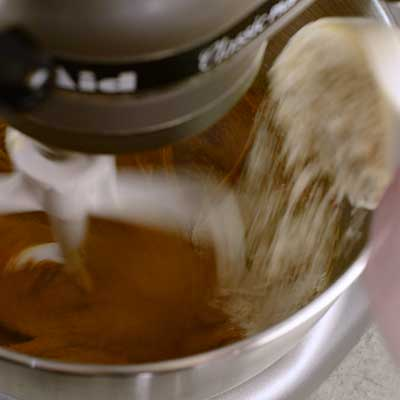 Molasses Crinkle Cookies Step 3 - Add dry ingredients.