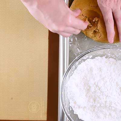 Molasses Crinkle Cookies Step 8 - Pinch off a piece of dough.