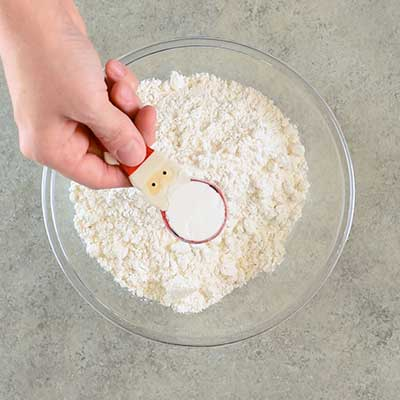 Rolled Sugar Cookies Step 1 - Add baking powder.