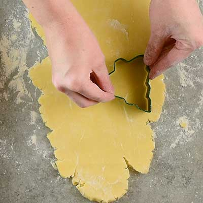 Rolled Sugar Cookies Step 7 - Cut out cookies.