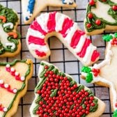 Rolled Sugar Cookies! These rolled sugar cookies have a perfectly light & airy texture with a delicate buttery taste. They're the best sugar cookie for decorating! | HomemadeHooplah.com