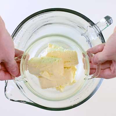 Buffalo Chicken Dip Step 1 - Add cream cheese.