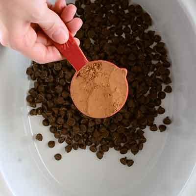 Crock Pot Hot Chocolate Step 1 - Add cocoa powder.