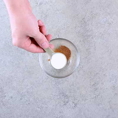 Microwave Peanut Brittle Step 1 - Add baking soda.