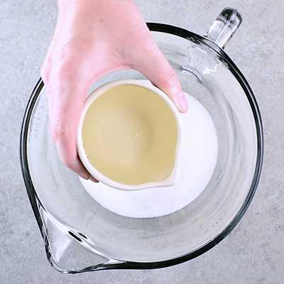 Microwave Peanut Brittle Step 3 - Add corn syrup.