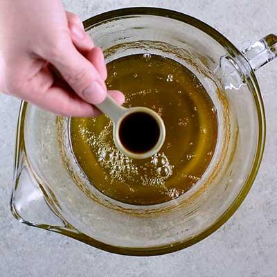 Microwave Peanut Brittle Step 5 - Add vanilla.