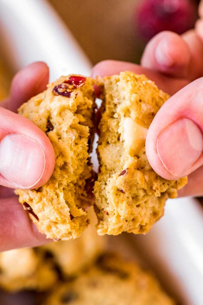 A fool proof cookie recipe for white chocolate oatmeal cranberry cookie recipe.