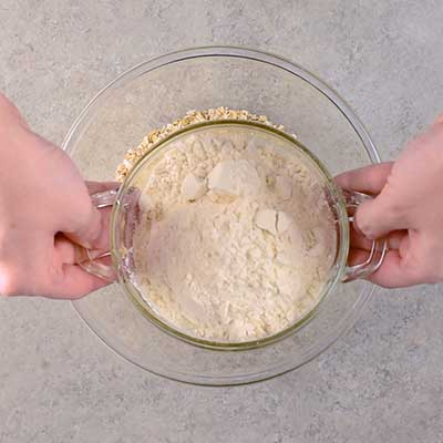 White Chocolate Cranberry Oatmeal Cookies Step 1 - Add flour.
