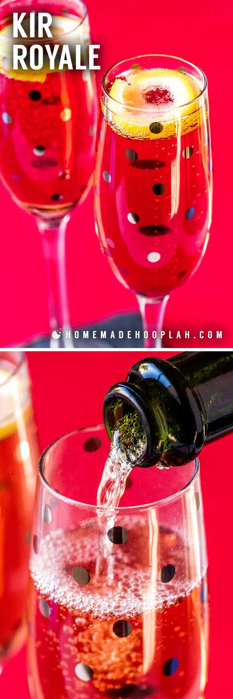 A fun champagne cocktail for any party, event, or holiday!