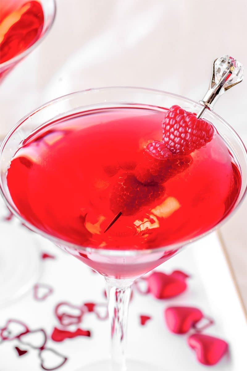 A sweet valentine's day cocktail