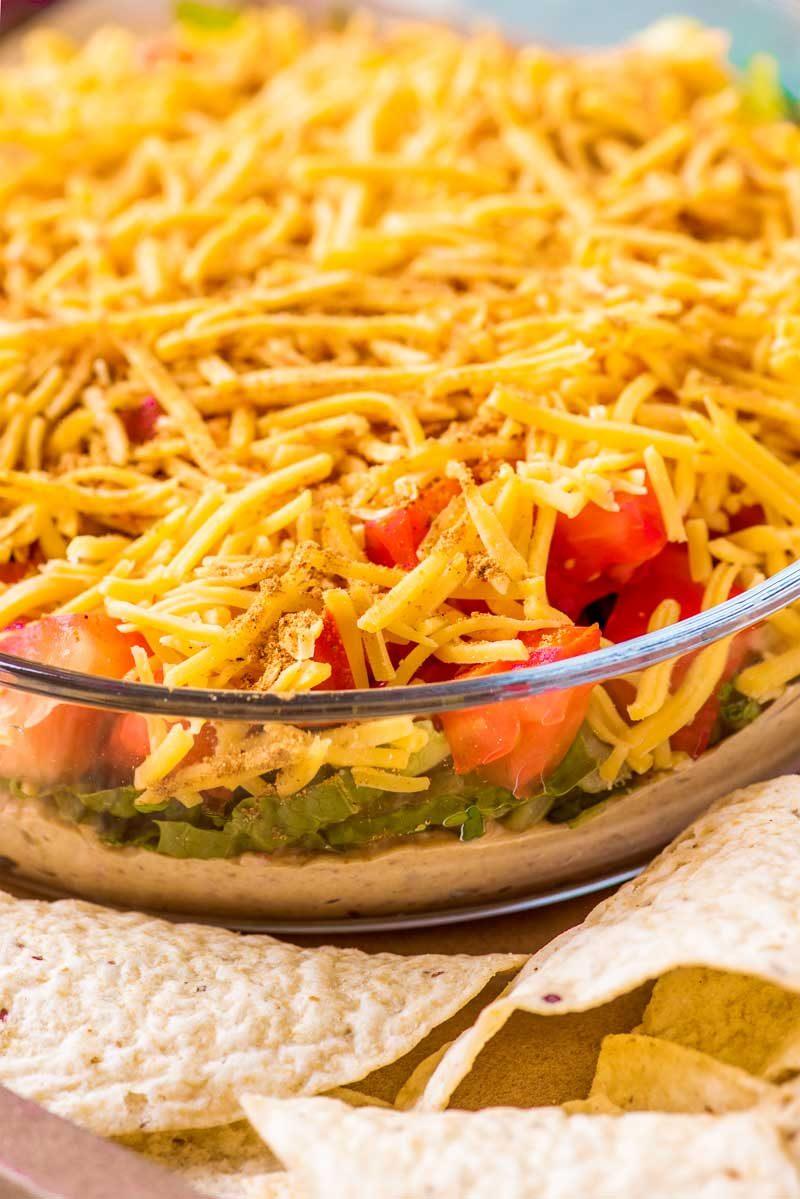 How to make taco bean dip