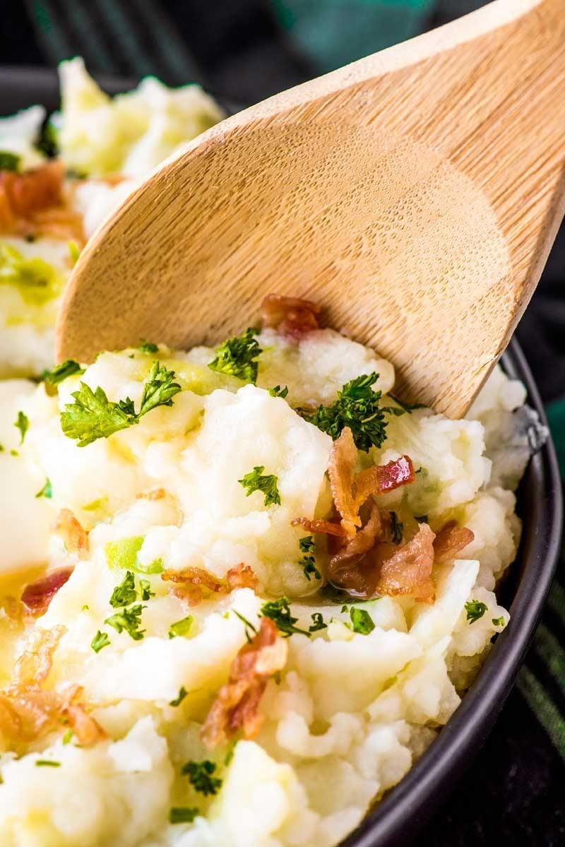 Irish colcannon potato and cabbage.