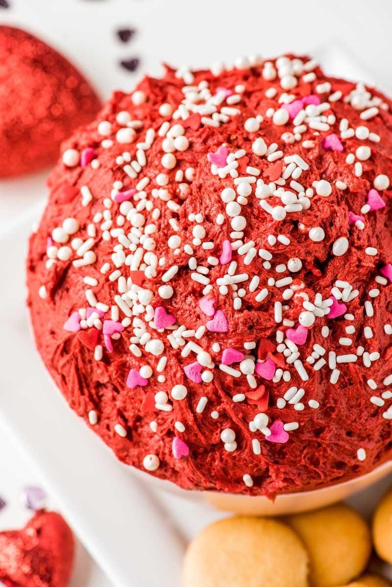 Red velvet cake dip.