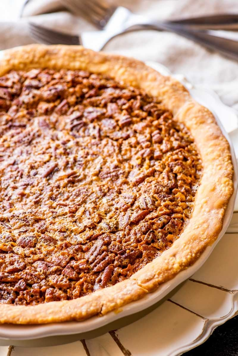 Derby pie with chocolate and pecans.