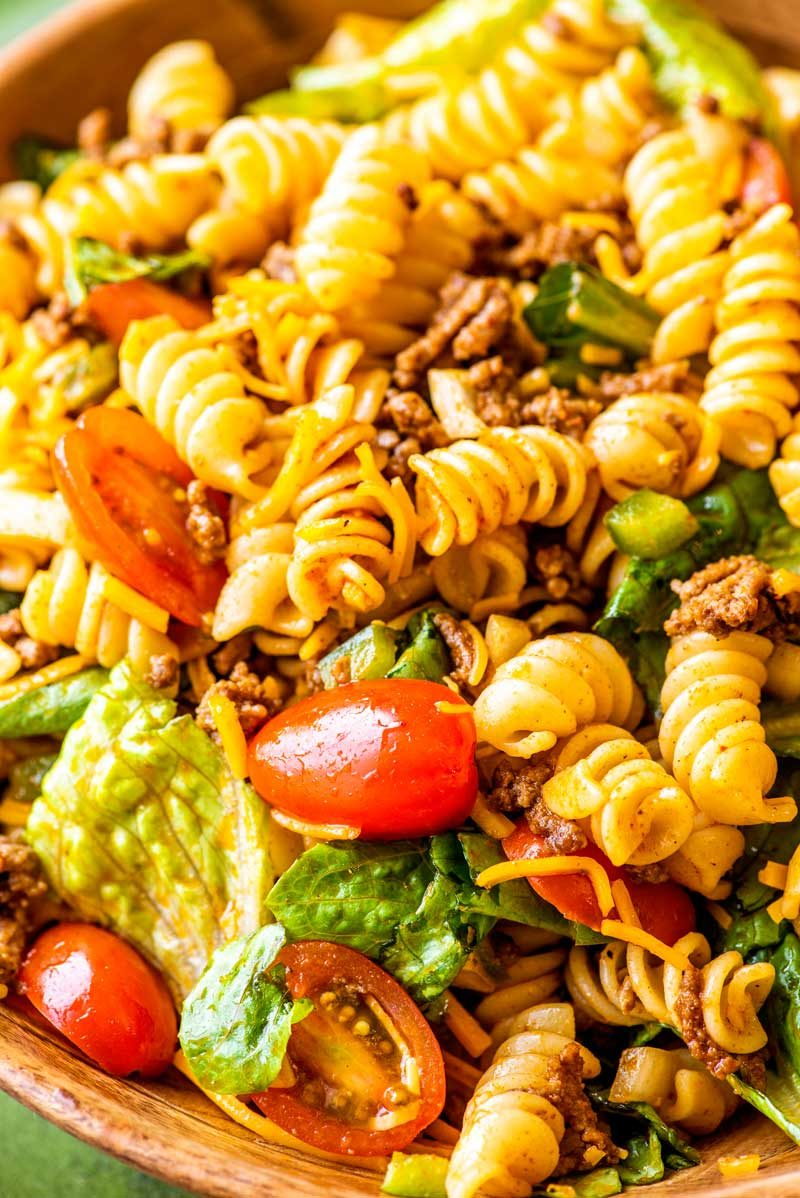 Taste of Home taco pasta salad.