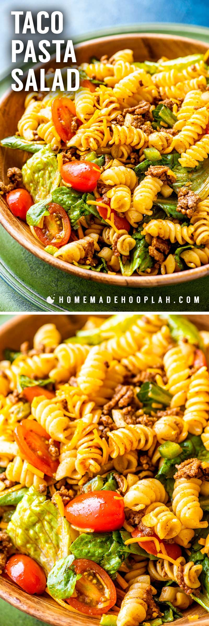 Classic taco pasta salad with Catalina dressing.
