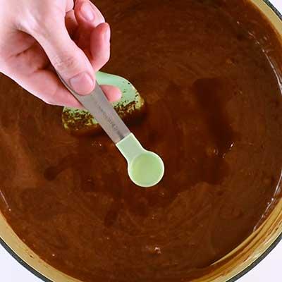Triple Chocolate Fudge Step 5 - Add almond extract.