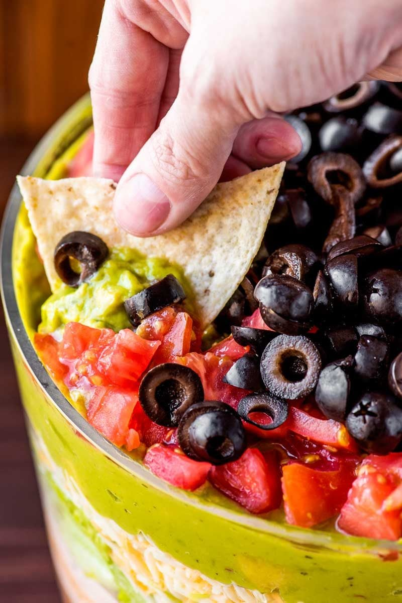 The best seven layer dip.