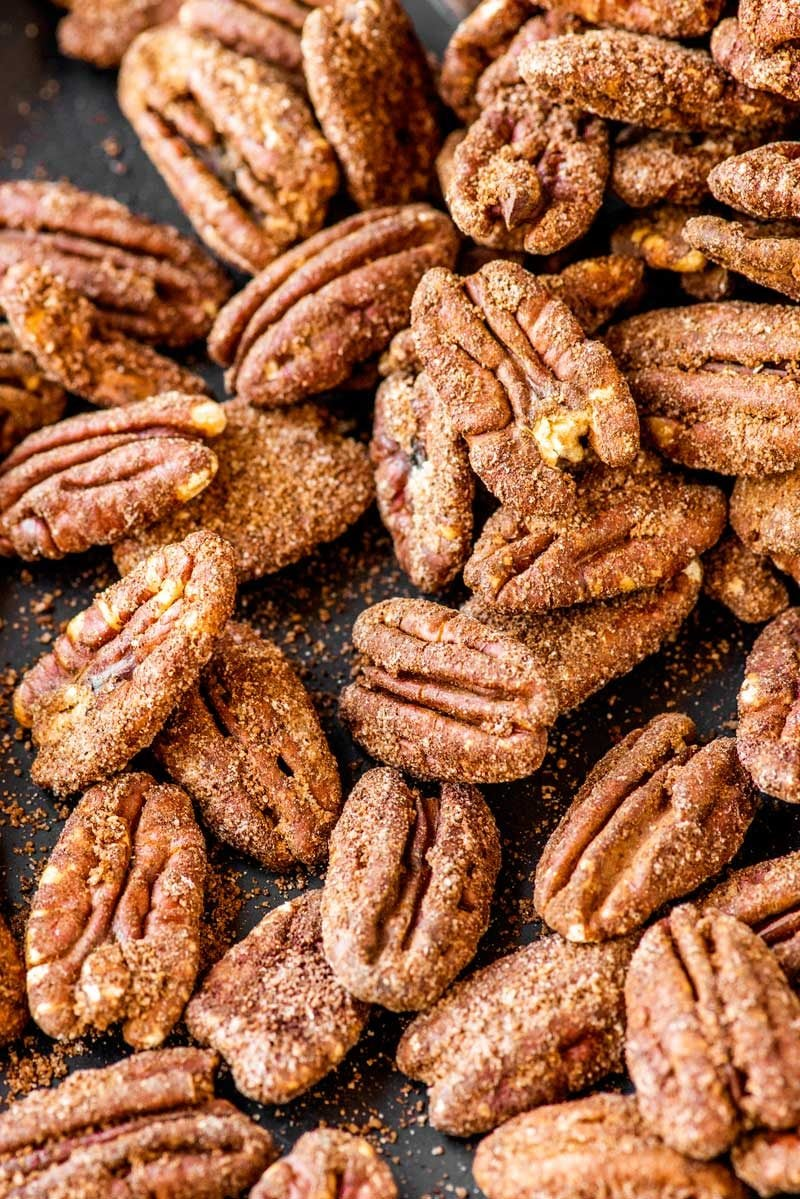 Baked sugar cinnamon pecan recipe.