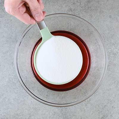 3 Bean Salad Step 1 - Add sugar.