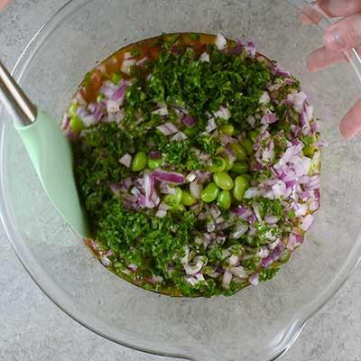 3 Bean Salad Step 3 - Mix well.