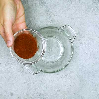 Homemade Taco Seasoning Step 1 - Add chili powder.