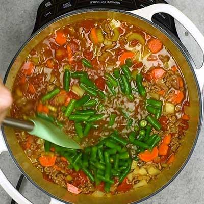 Hamburger Soup Step 3 - Stir well.
