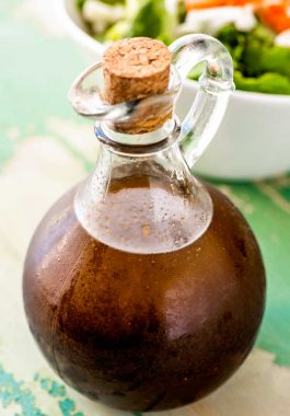 Homemade Balsamic Vinaigrette! This homemade balsamic vinaigrette recipe is the quick and simple way of making this healthier dressing choice at home. It's easy to customize to your tastes and works as a great base for flavored vinaigrettes. | HomemadeHooplah.com