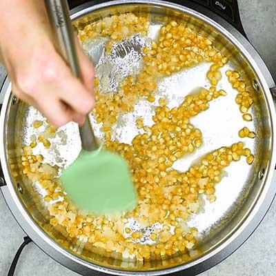 Homemade Kettle Corn Step 1 - Add stir well.